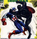 Steven Rogers (Earth-616) Captain America vs the Black Panther from Tales of Suspense Vol 1 98.jpg