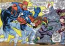 Steven Rogers (Earth-616) Captain America and the Avengers materialize in the year 1945 from Avengers Vol 1 56.jpg