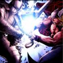 Thor Odinson (Earth-616) battles Odin in the Destroyer armor from Thor Man of War Vol 1 1.jpg