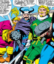 Thor Odinson (Earth-616) and the Warriors Three from Thor Vol 1 130.jpg