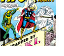 Thor Odinson (Earth-616) battles Loki for the first time in the modern age from Journey into Mystery Vol 1 85.jpg