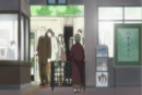 Chizu waiting at the train ticket entrance.png