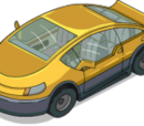 Yellow Electric Car