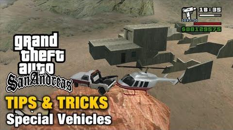 Special Vehicles in GTA San Andreas