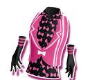 Pink Shiny Ribbon Coord