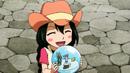 Asuka and snow globe.png