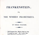 Frankenstein; or, The Modern Prometheus (1818)