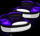 Untied Violet Sneakers