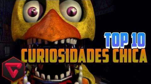TOP 10 CURIOSIDADES DE CHICA - Five Nights at Freddy's