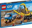 60075 Экскаватор и грузовик