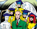 Charles Xavier (Earth-616) and the X-Men first graduation photo from X-Men Vol 1 7.jpg