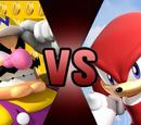 Wario vs Knuckles the Echidna