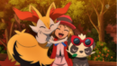 Braixen and Pancham with Serena.png