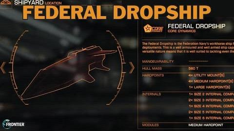 Elite Dangerous. Federal Dropship Review