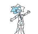 Blue diamond cuartz