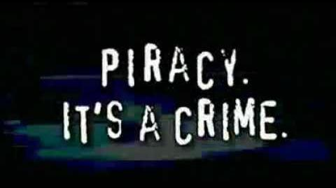 Anti Piracy Warning (Piracy It's a Crime.)