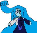 Aqua marina pearl lapislazuli