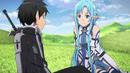 Kirito and Asuna talking about Kikuoka Seijirou.png