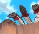 Trois Serpents Géants