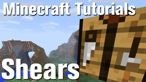 Minecraft Tutorial How to Make shears in Minecraft