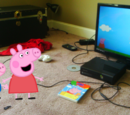 Peppa and George Watch Peppa Pig: The Balloon Ride DVD