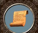 Vollgekritzeltes Pergament
