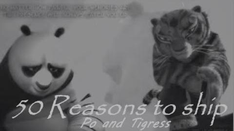 50 reasons to ship Po and Tigress aka Tipo-1432132231