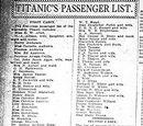List of Titanic's passengers and crew