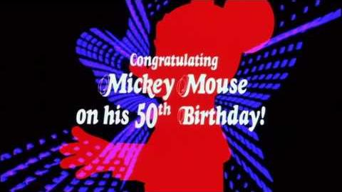 Mickey Mouse - 50th Anniversary and Buena Vista Logos (1978)