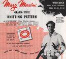 Mary Maxim 407 Wild Duck Graph-Style Knitting Pattern