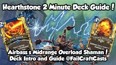 Airbass's Midrange Overload BRM Shaman! Hearthstone 2 Minute Deck Guide