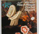 Annie's Attic 265B Annie's Super Simple Mile A Minute Crochet Slippers
