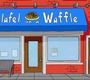 Falafel on a Waffle