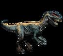Dilofozaur - klasyczna skórka