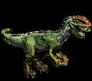 Dilofozaur - skórka Green