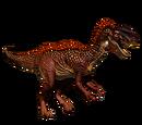 Dilofozaur - skórka Flaming Dart