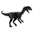 Dilofozaur - skórka Red Sided