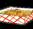 Sobras de papas fritas