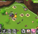 Overpowered Boom Beach/Took on volcano terror for the first time