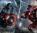 The War Knight/Concepto de arte de Captain America: Civil War con los bandos de la guerra