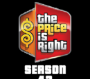 The Price is Right/Season 42 Statistics