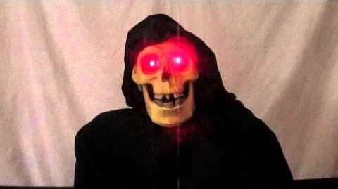 Life-sized, Animated Talking Grim Reaper Halloween Prop