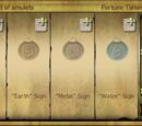 Set of amulets