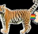 Гигантская настоящая летающая тигра
