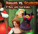 Spooky Cafe Humans vs Scarecrows
