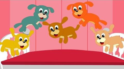 Nursery Rhymes By Kids Baby Club - Five little Puppies - Nursery Rhyme