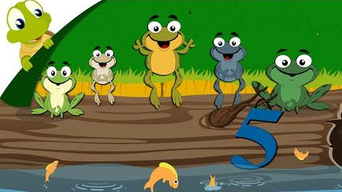 Five little speckled frogs nursery rhyme