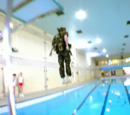 Battle swimming test