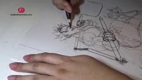 Nakaba Suzuki drawing The Seven Deadly Sins