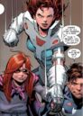 Peter Parker, Anna-May Parker and Mary Jane Watson (Earth-18119) from Amazing Spider-Man Renew Your Vows Vol 1 5 0001.jpg